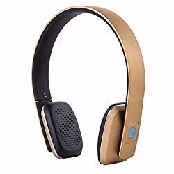 LC8600S Superior Quality Bluetooth Wireless Headphone (Gold)