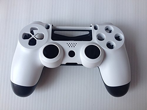 Matte Replacement Housing Shell Case Cover White+Black Compatible for PlayStation PS 4 PS4 Controller DualShock 4 skin digital analyzer moisture meter water soft oil content rough tester skin care face care for beauty tools care spa brand new