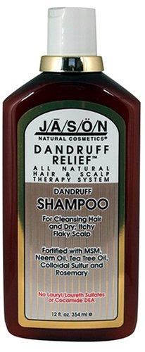 JASON Natural Cosmetics Dandruff Relief Shampoo, Rosemary, Neem & Tea Tree, 12 Ounces