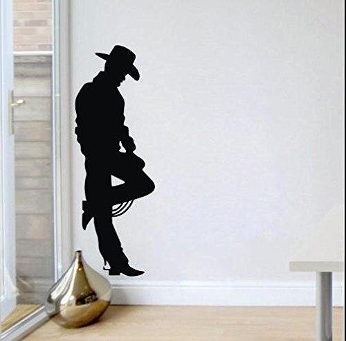 Black Cowboy On The Wild West Frontier Western Cowboy John Wayne Wall Decals Wall Sticker front-775879