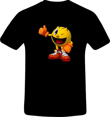 pacman-thums-up-custom-tshirt-s-black