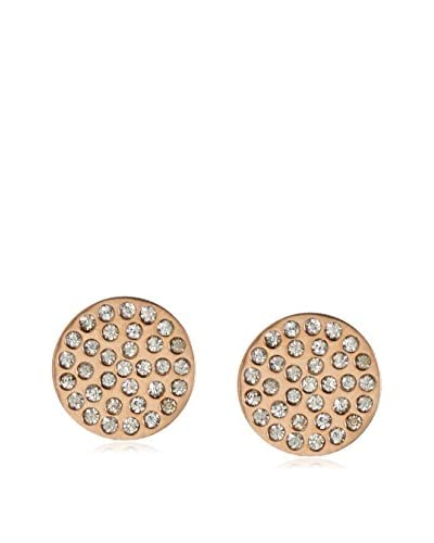 Chloe by Liv Oliver 18K Rose Gold-Plated Pave Disc Earrings