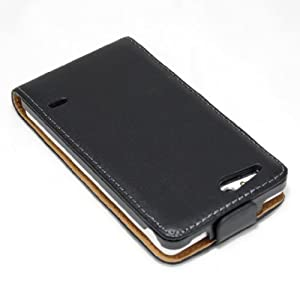 ECENCE 13030205 Sony xperia go ST27i handy tasche flip case klapp schutz hülle cover schwarz inklusive Displayschutzfolie