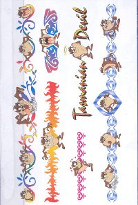 Buy Looney Tunes Tasmanian Devil Temporary Tattoo Body Art Anklets & Bracelets