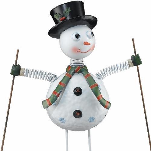Christmas Handcrafted Garden Stake Decor Snowman (34H) - Regal Art #A386