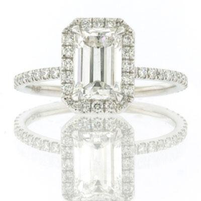 2.40ct Emerald Cut Diamond Engagement Anniversary
