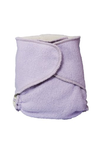 Kissaluvs Cotton Fleece Hybrid One Size Contour Diaper, Purple front-636281