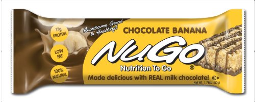 NuGo All-Natural Nutrition Bar, Chocolate Banana, 1.76-Ounce Bars (Pack of 15) (Nugo Bars Organic compare prices)