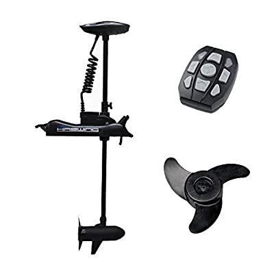 "Haswing Cayman 12v 55lbs Bow Mount Electric Trolling Motor Black 48"" Shaft"