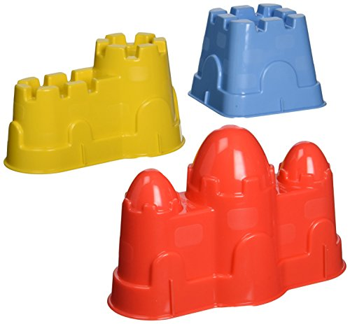 Small World Toys Sand & Water - 3-Piece Sand Castle Set (colors vary) - 1