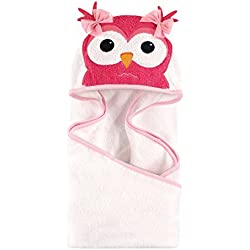 Hudson Baby Animal Face Hooded Towel, Cutsey Owl
