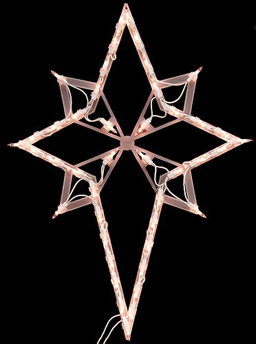 "22"" Lighted Star of Bethlehem Christmas Window Silhouette Decoration"