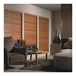 2 wood blind horizontal real wood blind 24 wide x 66 for Blinds for long windows