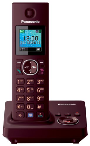 Panasonic KX TG7861GR DECT cordless telephone (3.7 cm (1.5 inches) TFT display) with answering machine vine red images