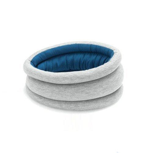 Stock Show 1Pcs Ostrich-like Adjustable Strap Travel Cushion Neck Pillow, Blue