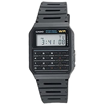 Casio Calculator Watch Water Resistant Dual Time Daily Alarm CA53W-1Z