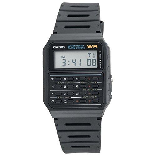 Casio Calculator Watch Water Resistant Dual Time Daily Alarm CA53W-1Z 0