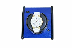 ORBITA Sparta Watch Winder in Vibrant Blue, Made in the USA, Battery Operated