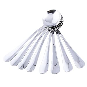 *NEW ARRIVAL PROMOTIONMIU COLOR® Stainless Steel Soup Spoons, Set Of 8 by MIU COLOR