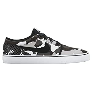 Nike Men's Toki Low Textured Print Shoes (Grey/Black, 12 D)