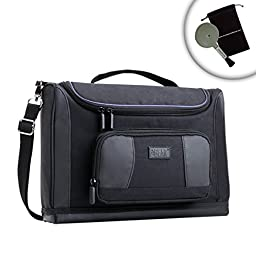 USA GEAR S7 Pro Carrying Bag with Adjustable Interior Compartments & Pockets - Works with XYZprinting ABS Filament , MakerBot Replicator Mini , BuildTak Build Surface & more 3D printing paraphernalia!