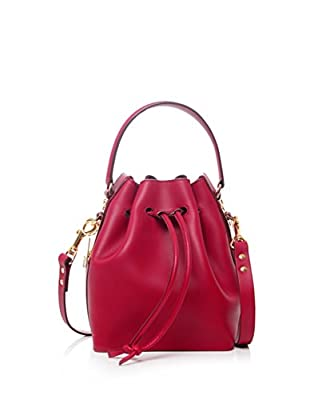 Sophie Hulme Small Drawstring Bucket Bag DEEP RED