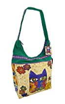 Laurel Burch `Blossoming Feline` Medium Hobo Bag