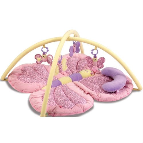 Little Bird Told Me - Billowy Butterfly Pink Baby Playmat and Gym