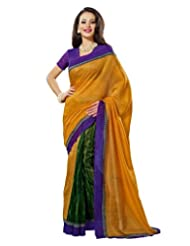 Prafful Silk Bhagalpuri Printed Saree With Unstitched Blouse - B00KNUFFAW