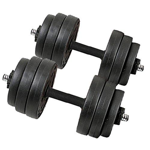 ダンベル10kg (2個セット 合計20kg) 【筋力トレーニング/ダイエット/シェイプアップ/ポリエチレン製/静音/トレーニングに集中】