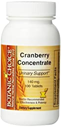 Botanic Choice Cranberry concentrate, 100-count Tablets Bottle (Pack of 5)