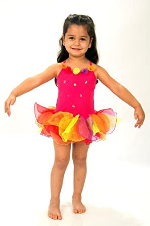 Girls Flower Ballet Tutu - Hot Pink (3 Years)