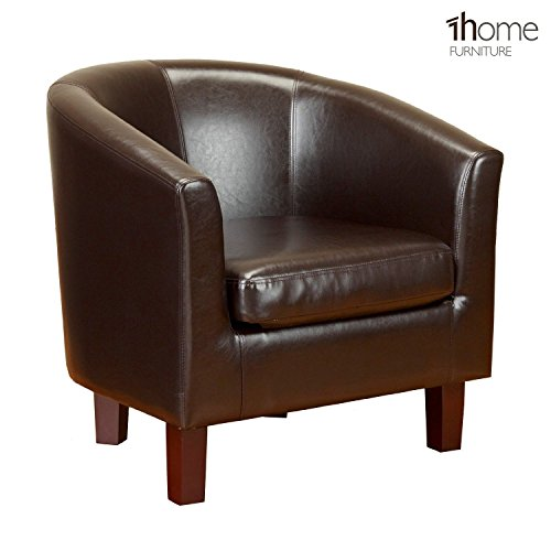 1home-bonded-leather-tub-chair-armchair-for-dining-living-room-office-reception-brown
