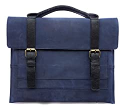 Chalk Factory Blue Genuine Leather Sleeve cum Bag for HP Elite book 2560P/4GB/i5-2540/320GB/12.5/Windows 7proLaptop