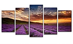 Wieco Art Provence Lavender Modern Giclee Canvas Prints Contemporary Landscape Canvas Art Paintings on Canvas Modern Lanscape Wall Art for Home and Office Decorations