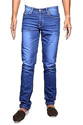 John Wills Men's Slim Fit Jeans (MCR1026, Blue, 32)