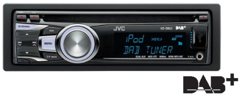 JVC KD-DB52 Car CD MP3 Stereo, DAB Radio, iPod Control, Front USB, Aux-In