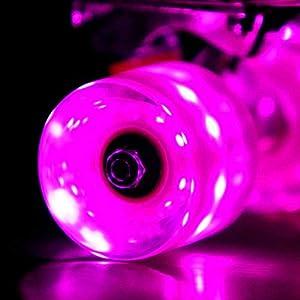 Buy Sunset Flare LED Skateboard Wheel Set (x4) by Sunset