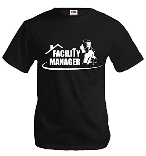 T-Shirt Facility Manager-L-Black-White thumbnail