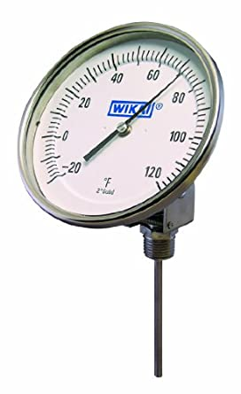 WIKA 304 Stainless Steel Process Grade Resettable Bi-Metal Thermometer