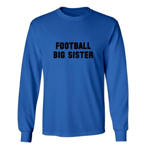 So Relative! Football Big Sister Kids Long Sleeve T-Shirt (Royal, Kids Xl) front-1005390