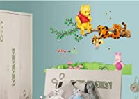 Ankin Winnie the Pooh Tiger Sitting on a Branch Wall Sticker and Decal by madebyLuv - Wall Decals
