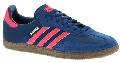 Adidas Original Samba Blue Pink Mens Suede Trainers Shoes Boots-10