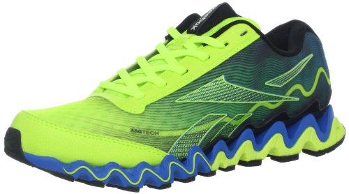 d97bde2b4700a Feature of Reebok Men s Zigultra Running Shoe Neon Yellow Risk Blue Black  11 M US