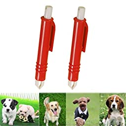 2Pcs Pet Tick Remover Tweezers, Yosoo Dog Cat Puppies Flea Louse Acari Remover Nipper Grooming Tool Pack