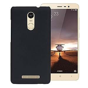 SDO™ Luxury Matte Finish Rubberised Slim Hard Case Back Cover for Xiaomi Redmi Note 3 - Black + Nano Sim Adapter + Micro USB OTG Cable + 3.5mm Auxiliary Cable Combo Set