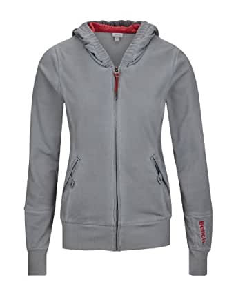 Bench Damen Sweatshirt Trikotjacke Bridgelands grau (smoked pearl) Small