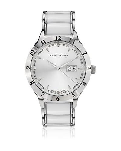 Chrono Diamond Orologio con Movimento al Quarzo Svizzero Man 10400B Bianco 42 mm