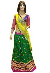Try n get's Green Color Georgette Designer lehenga
