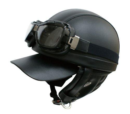ダムトラックス(DAMMTRAX) バイクヘルメット ハーフ バンディット BK フリーサイズ(57CM~60CM未満)